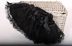 Detské oblečenie - čierna tutu suknička - 5354691_