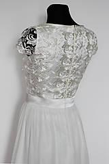 Šaty - Spoločenské šaty s krajkovým vrškom a rukávikom - 5352285_