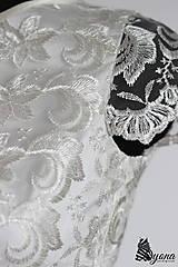 Šaty - Spoločenské šaty s krajkovým vrškom a rukávikom - 5352302_