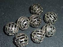 Korálky - Kovová korálka 10mm IX - 5355096_