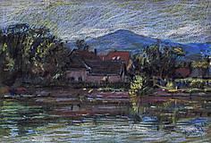 Obrazy - Modra od rybníka - 5353330_