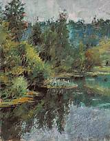 Obrazy - Trudovaja, jazierko v lese - 5353495_
