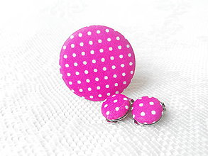 Sady šperkov - BonBonky Pinky - cukríková sada (klipsne + brošňa) - 5357892_