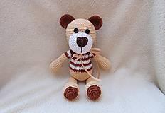 Hračky - Hnedý medvedík :) - 5356540_