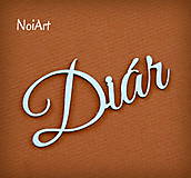 Papierový nápis Diár