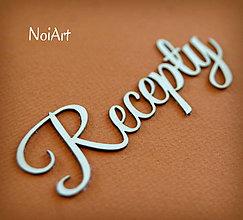 Papier - Papierový nápis Recepty - 5355695_
