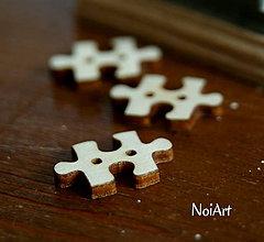 Materiál ručne robený - Gombíček PUZZLE 2 cm - 5356922_
