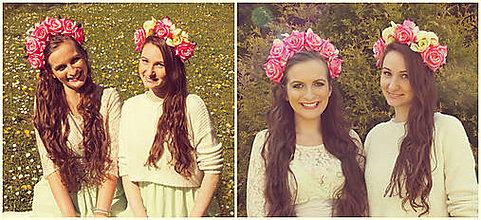 Ozdoby do vlasov - Ružová čelenka 1, kombinovaná:) - 5355132_