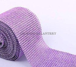 Galantéria - Kamienková stuha fialková - cena  za 10 cm - 5357392_