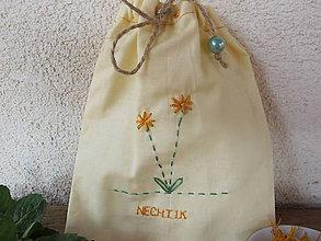 Úžitkový textil - Vrecko na bylinky- nechtík - 5357675_
