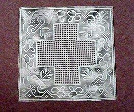 Návody a literatúra - Návod na háčkovanie- štvorcová filetová dečka s ornamentom - 5355782_