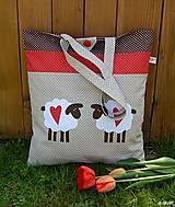 Nákupná taška - ovečky