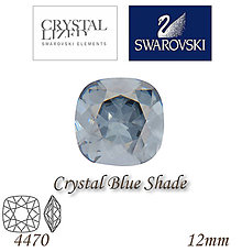 Korálky - SWAROVSKI® ELEMENTS 4470 Square Rhinestone - Crystal Blue Shade, 12mm, bal.1ks - 5356397_