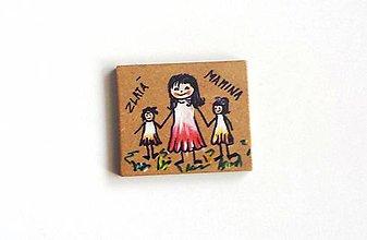 Magnetky - maľovaná magnetka-originál - 5359453_