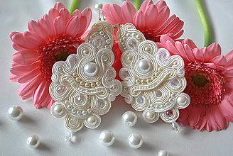 Náušnice - Svadobné náušnice - Nežná krása perál - 5359356_