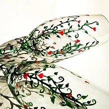 Nádoby - Svadobné poháre...Keď láska kvitne - 5359252_