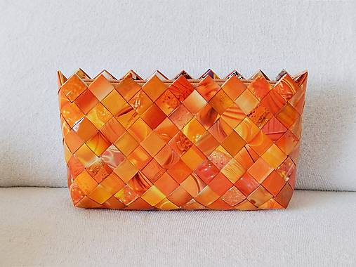 a004e09ce Kabelka - ecoist - oranžová / cherry11 - SAShE.sk - Handmade Kabelky