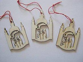Iný materiál - kostolík a traja králi - 5360150_