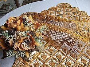 Úžitkový textil - *** štvorcový obrus - v škoricovej  resp. medenej farbe**** - 5362924_