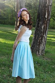 Sukne - Úpletová sukňa s protizáhybmi.... - 5363311_