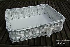 Svadobný košíček 30x22x9 cm (ivory)