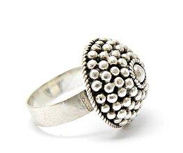 Prstene - Staroslovanský 925 Strieborný prsteň, ručná práca R30 - 5361615_