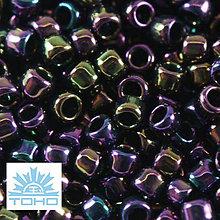 Korálky - TOHO rokajl (Takumi lh Round 2mm) Metallic iris purple - 5361223_
