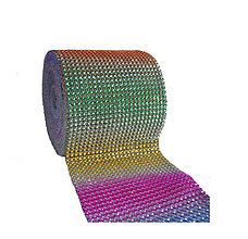 Galantéria - Kamienková stuha dúhová - cena za 10 cm - 5361942_