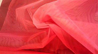 Textil - Tyl červený - 5362356_