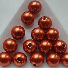 Korálky - GLANCE plast 10mm-10ks (tm.medená) - 5364022_
