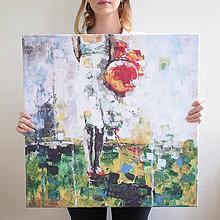 Obrazy - Balónová slečna 60x60, reprodukcia - 5361823_