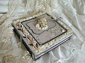 Papiernictvo - Svadobný fotoalbum na želanie pre Zuzku 20x20cm - 5362007_