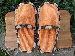 Obuv - Papuče z oranžového menčestru - 5362006_