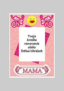 Papiernictvo - Koláž - pohľadnica na Deň matiek (A5) - 5362562_