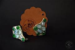 Náušnice - green @ skyblue crystals - 5367660_