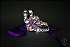 Náhrdelníky - purple @ clear crystals - 5368025_