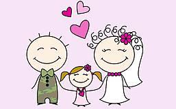 - Svadobný podbradníček plnofarebný - 5364276_