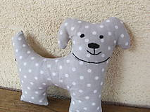 Hračky - Psíček Sivá bodka- hračka - 5364188_