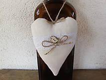 Dekorácie - Srdiečko s nádychom romantiky - 5367557_