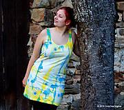Šaty tielkové batikované a maľované FATAMORGÁNA
