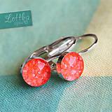 Náušnice - Zářivé lososové bublinky - stříbro - 5364688_