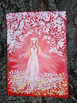 Obrazy - Fantasy - akrylomaľby na A4 plátne (draci, dinosaury, anjeli, bohyne, abstrakcie) - 5364873_