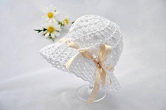 Detské čiapky - jemný klobúčik LETO - 5365742_