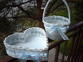 Košíky - Svadobná sada - nebesky modrá.. - 5365528_