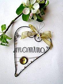 Dekorácie - veľké ♥ pre mamu - 5365803_