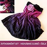 Sukne - ZVÝHODNĚNÝ SET hedvábná SUKNĚ + ŠÁLA (bez spodničky) - 5367787_