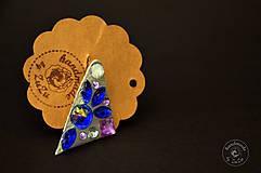 Odznaky/Brošne - purple @ blue brooch - 5371877_