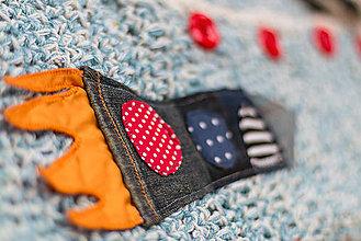 """Galantéria - Textilná nášivka """"raketa"""" - 5370902_"""