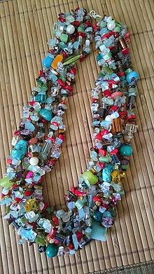 Náhrdelníky - Veľký letný náhrdelník - 5370585_