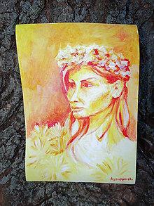 Obrazy - Deva v kvetoch - 5368333_